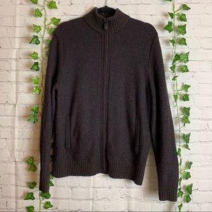 BLACK BROWN 1826 Zip Up Lambswool Sweater